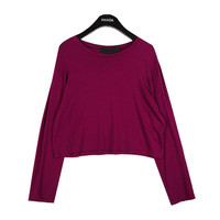 Long Sleeved Crop T-shirt