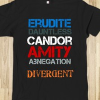 Divergent factions-Unisex Black T-Shirt