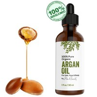 Virgin Argan Oil ★ Premium Quality 100% Organic For Hair, Skin, Face & Nails - Best Moroccan Anti-Aging, Anti-Wrinkle, Anti-Oxidant Beauty Secret - Prevents Frizz & Increases Natural Hair Shine & Silkiness - Natural Skin Care Products for Women and Men - N