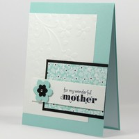 My Wonderful Mother Handmade Greeting Card Adorned With Flowers | cardsbylibe - Cards on ArtFire