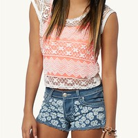 Daisy Lace Crop Swing Tank
