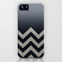 BLACK FADING SILVER CHEVRON iPhone & iPod Case by Monika Strigel