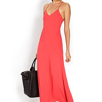 Woven Crossback Maxi Dress