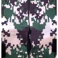 Digital Camo Green, and White Camouflage Custom Nike Elite Full coverage