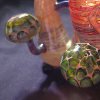 Sherlock hand blown glass pipe wrap and by NorthwaterArtGlass
