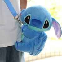 "DISNEY STITCH HEIGHT 9"" . MINI PLUSH CROSSBODY TOY WITH MINI POCKET.LIMITED EDITION. FREE US SHIPPING."