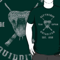 Slytherin Quidditch Athletic Tee Harry Potter Shirt T-Shirts  Hoodies by spacemonkeydr | RedBubble