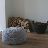 Crocheted Pouffe [FUOTT] - 95.95 : le souk, unique living