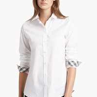 Burberry Brit Shirt with Check Contrast | Nordstrom
