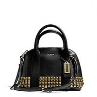 BLEECKER MINI PRESTON SATCHEL IN STUDDED LEATHER