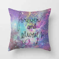 Forever and Always Throw Pillow by Pink Berry Pattern
