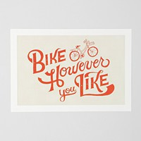 Mary Kate McDevitt Bike However You Like Art Print - Urban Outfitters
