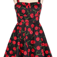 A Cherry Fine Day Swing Dress