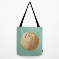 Hedgehog (HARINEZUMI) Tote Bag by Mtkuy