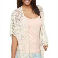 Lace Kimono with Short Sleeves