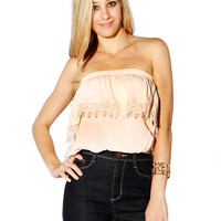Papaya Clothing Online :: OPEN SHOULDER RUFFLE CROP TOP