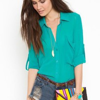 Buttoned Up Blouse in Clothes Tops at Nasty Gal