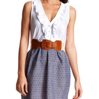 Charlotte Russe - Swiss Dotted 2-Fer Dress