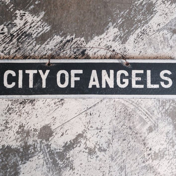 NEW Fun inspirational Signs Wood Art Decor Girls Teens Trendy Fashion Wall art Hanging Brandy Melville Style City of Angels