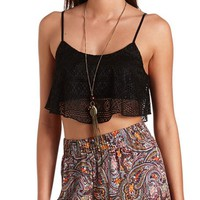 CROCHET FLOUNCE CROP TOP
