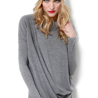 Draped L/S Knit Top
