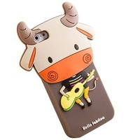 Cute Cartoon Guitar Accordion Phone Shell Case for Iphone5/5s