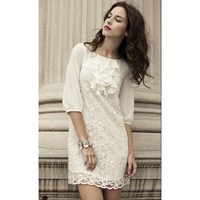 Elegant Lace Dress : Designer Shoes|Bqueenshoes.com