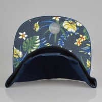 Stussy Stock Hawaii Snapback Hat - Navy