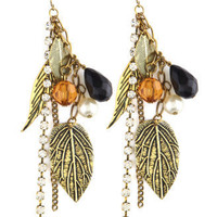 Charlotte Russe - Mixed Feather Dangle Earrings