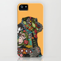 chimpanzee love iPhone & iPod Case by Sharon Turner