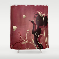 The Wings of Love Shower Curtain by LouJah