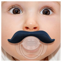 Mustache Pacifier - The Gentleman Stachifier Mustachifier Funny Dummy Binky | Super Fun Time Gifts - Quirky, Trendy, Fun!