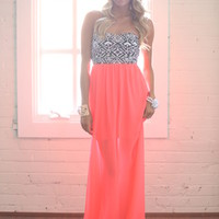 Show Stopping Maxi Dress Hot pink