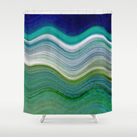 OCEANSCAPE ABSTRACT Shower Curtain by Catspaws