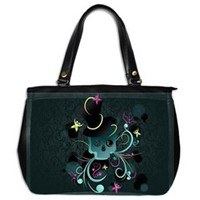 Skull Oversize Office Handbag (One Side)