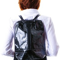 Black Hologram Rucksack Backpack