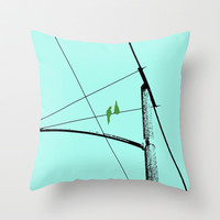 Love Birds Geometry Throw Pillow by RichCaspian