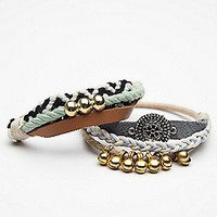 Free People Womens Pom Pom Embellished Hair Tie Duo -