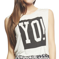 Yo! Crop Muscle Tee | Wet Seal