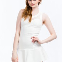 Tennis Mesh Drop Waist Dress