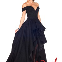 Mac Duggal 48134R Black Hi-Lo Dress