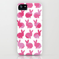 Pink Bunny iPhone & iPod Case by C Designz