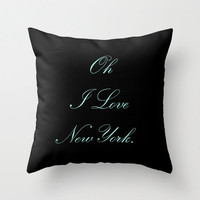 Velveteen Pillow - Breakfast at Tiffany's - Quotes - Black - Tiffany Blue - Typography - Teen Room Decor - Glamour Decor - Fashion Pillow