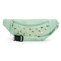 T-Shirt & Jeans Mint Studded Faux Leather Fanny Pack
