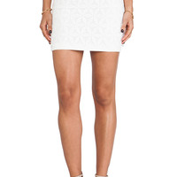 JOA Organza Lace Mini Skirt in White from REVOLVEclothing.com