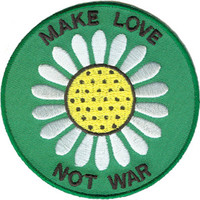 Daisy Make Love Not War Patch on Sale for $3.99 at HippieShop.com