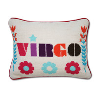 Jonathan Adler Virgo Zodiac Needlepoint Throw Pillow