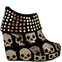Gold Star Wedge - Black and Gold, Iron Fist, &amp;#36;99.99, FREE 2nd Day Shipping!