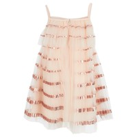 Chloe Babies Sleeveless Pink Sequin Tutu Dress | AlexandAlexa