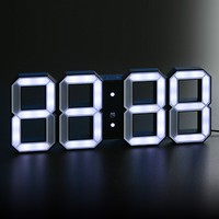 LED Wall Clock - Black/White